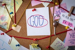 concept de recherche de Dieu photo