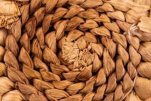 texture abstraite d'une corde marron torsadée photo