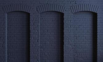 mur de grenier arches de briques de fond sombre photo