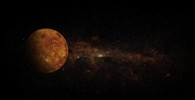 Vénus sur fond d'espace, éléments de cette image fournis par la nasa photo