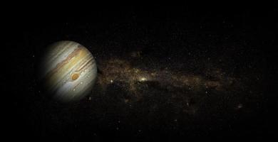 Jupiter sur fond d'espace, éléments de cette image fournis par la nasa photo