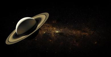 Saturne sur fond d'espace, éléments de cette image fournis par la nasa photo