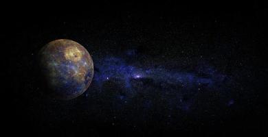 mercure sur fond d'espace, éléments de cette image fournis par la nasa photo