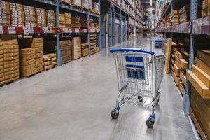 Deux chariots dans l'allée de l'entrepôt dans un magasin Ikea photo