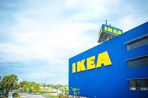 Logo de l'entreprise de meubles Ikea sur l'extérieur du bâtiment photo