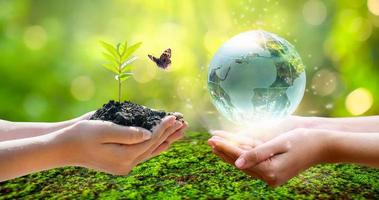 concept de sauver le monde, sauver l'environnement photo
