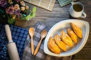 pâte feuilletée au curry photo