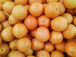 groupe d'oranges fruits ou mandarine photo