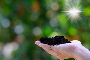 concept de la journée mondiale des sols et sauver le concept du monde photo