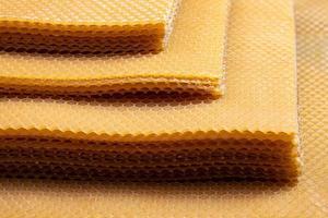 nid d'abeille en cire d'abeille photo