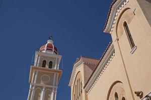 Détail d'une église sur l'île de Zakynthos en Grèce photo