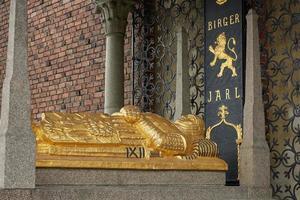 Tombe de Birger Magnusson qui a fondé Stockholm au 13ème siècle à Stadshuset photo