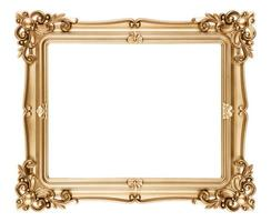 cadre photo doré de style baroque