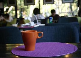 tasse de café glacé photo