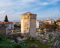 Vestiges de l'agora romaine et tour des vents à Athènes Grèce photo
