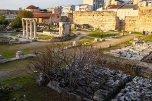 Vestiges de l'agora romaine d'Athènes en Grèce photo