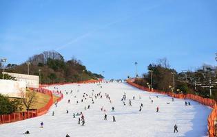 Gangwon-do, Corée, 4 janvier 2016 - Station de ski Daemyung Vivaldi Park photo