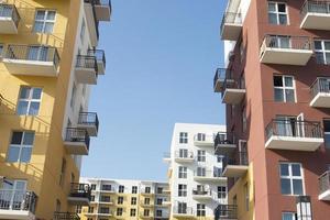 bâtiments résidentiels colorés photo