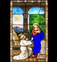 Vitrail à la cathédrale de Côme en Italie photo