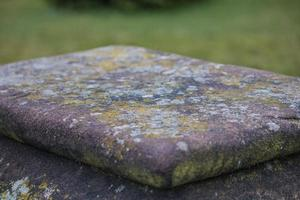 plateau en pierre plate photo