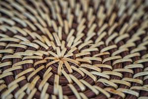 Support en osier en spirale photo gros plan de tapis de cuisine