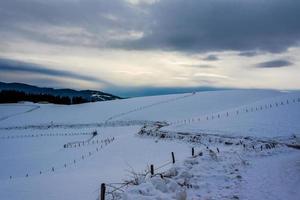 séparations dans la neige photo