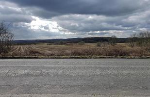route et champs photo