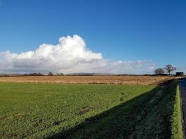 vue sur la colline d'hiver photo
