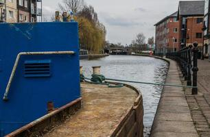 vue sur la barge de travail photo