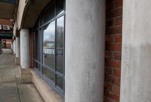 bureau avec façade en béton photo