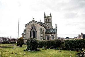 église et jardins photo