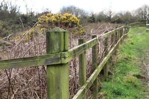 un poteau de clôture photo