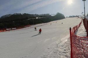 Gangwon-do, Corée 2016- Station de ski Daemyung Vivaldi Park photo