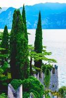 château et lac de cyprès photo