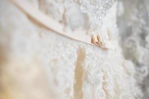 fond de robe de mariée photo