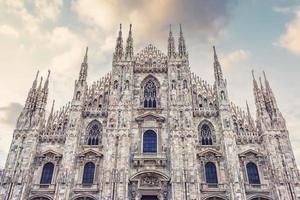architecture de la cathédrale de milan photo
