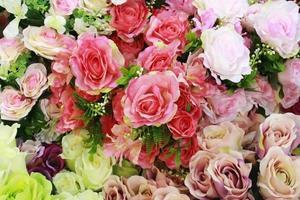 bouquet de fleurs mélangées pour le fond photo