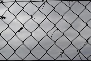 motif de treillis métallique photo