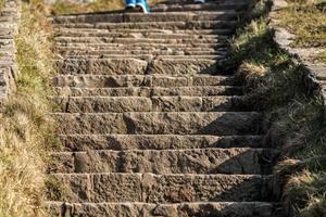marches en pierre raides photo