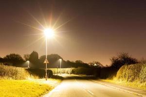 lampadaires lumineux photo