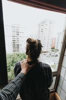 concept d'auto-assistance et de dépression photo