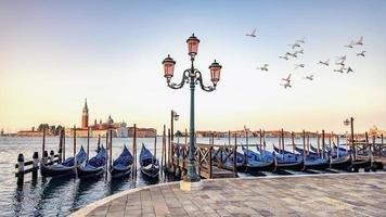la ville de venise le matin en italie photo