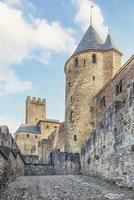 vue sur la vieille ville médiévale de carcassonne en france photo