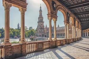 Plaza de Espana à Séville Andalousie Espagne photo
