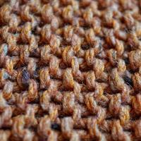 drap de laine orange fait à la main photo