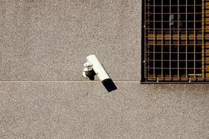 caméra de sécurité sur le mur photo