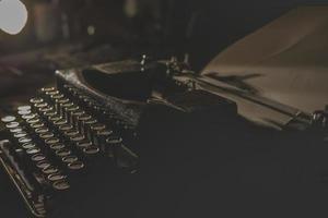 papier peint de machine à écrire vintage photo