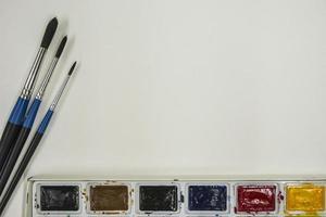 pinceaux et peintures photo