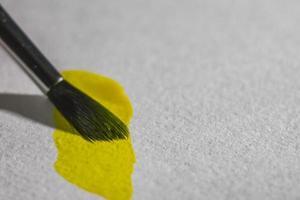 papier pinceau et aquarelle photo