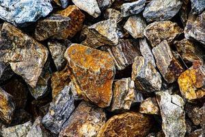tas de roche de granit photo